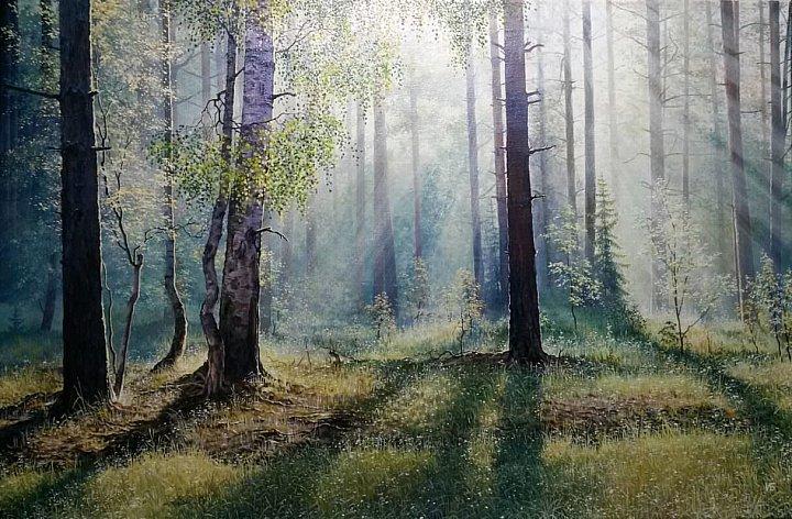 Иван Булыгин – Утро в лесу