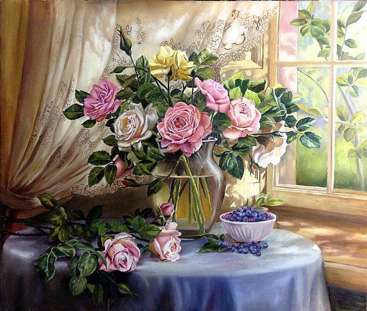 Когай Жанна – Натюоморт с розами (копия)