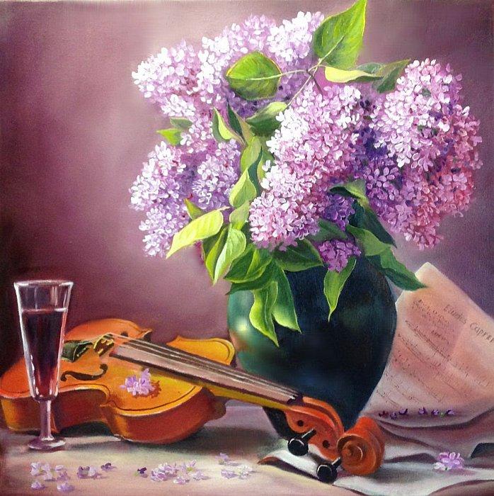 Сирень и скрипка