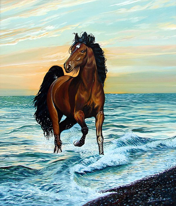 Надежда Кабатова – Закат, море, лошадь