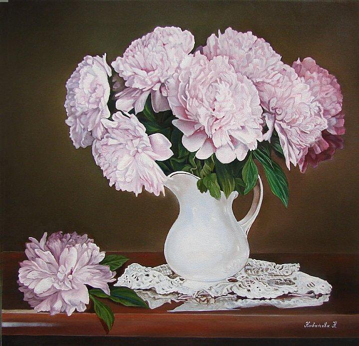 Надежда Кабатова – Розовые пионы