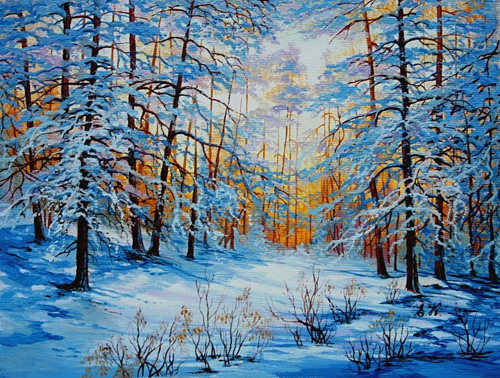 Синие сумерки зимы