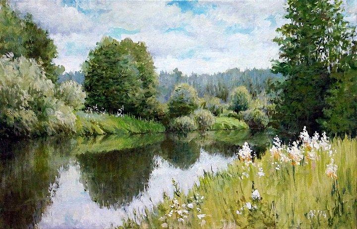 Андрей Костромин – на покосах, река Тагил