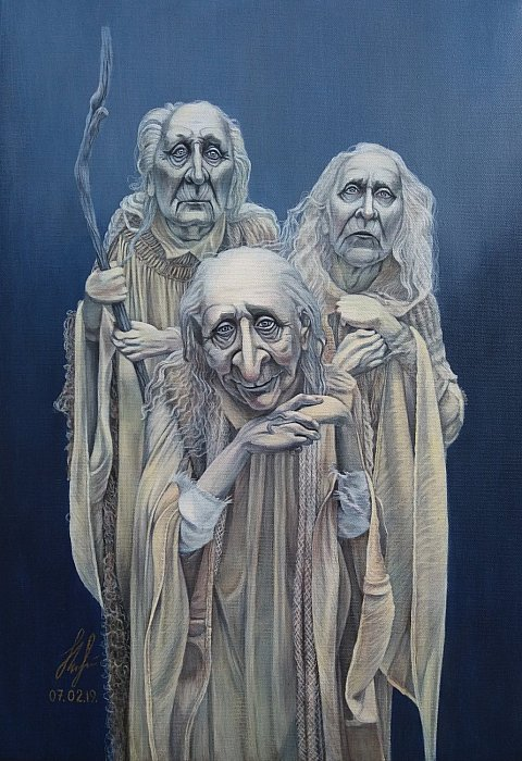 The three spirits. Dusty Poche'