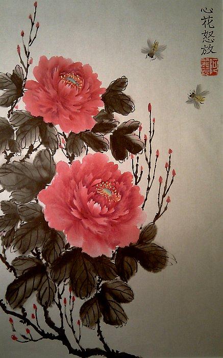 Гохуа, пионы, китайская живопись ...: lozaika.in.gallerix.ru/expo/piony-gohua/goxua-piony-kitajskaya...