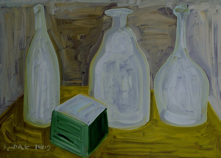 GLASS utensils. Oil on cardboard, 35-49, 1969… ~ Кандинский-ДАЕ