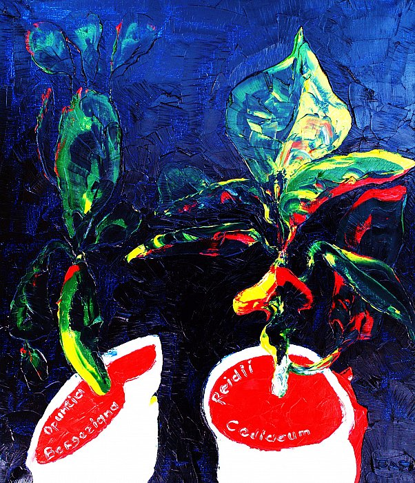 Plants. Oil on canvas, 70-60, 1973 ~ Кандинский-ДАЕ