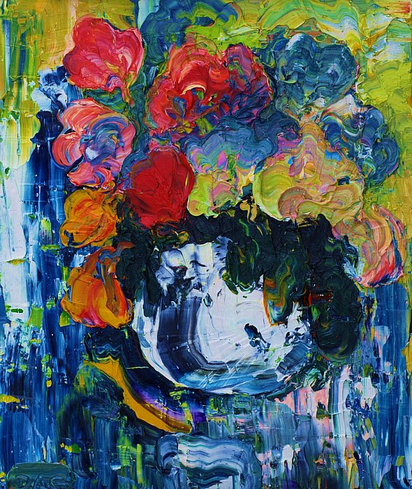 Still life blue. Canvas, oil, 40-33, 1982 ~ Кандинский-ДАЕ