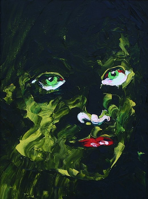 Tosca Green. Oil on canvas, 40x30, 2006 ~ Кандинский-ДАЕ