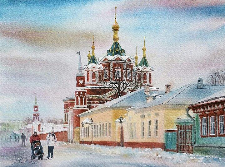 Крестовоздвиженский собор Успенского Брусенского монастыря в Коломне