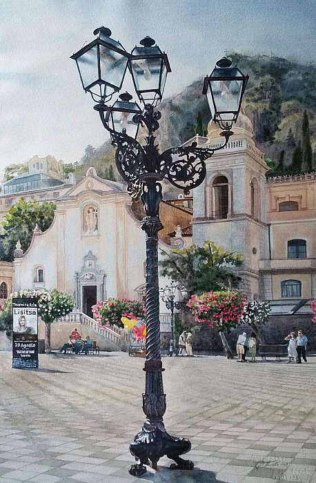 Piazza IX Aprile. Taormina. Sicily