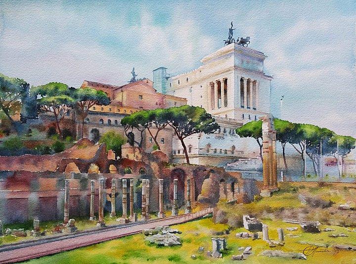 Рим. Вид на Старый город