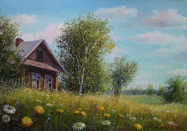 Инна Мелёшина-  Домик на лугу