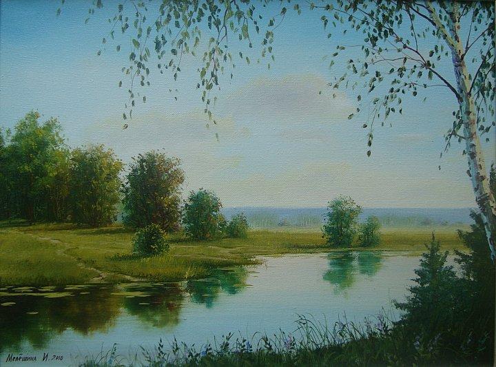 Инна Мелёшина – на реке. лето