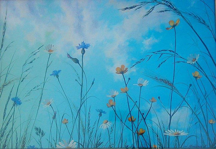 Инна Мелёшина – Полевые цветы на фоне неба