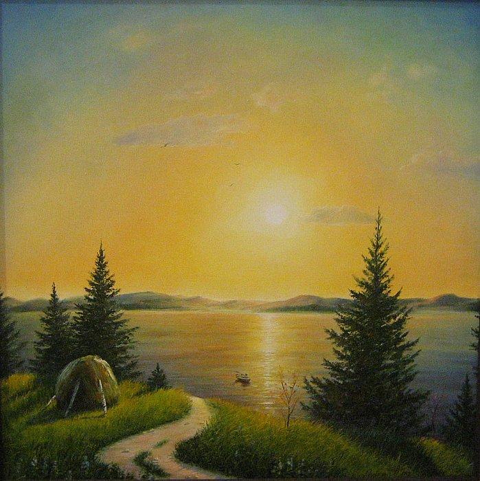 Инна Мелёшина – Закат на озере