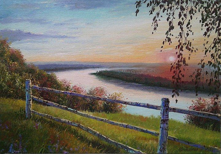 Инна Мелёшина – Закат над рекой