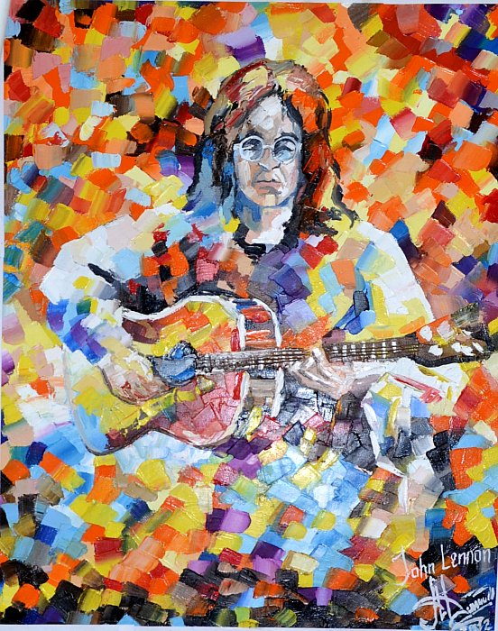 John Lennon by Mina-Danil on Leonid Afremov