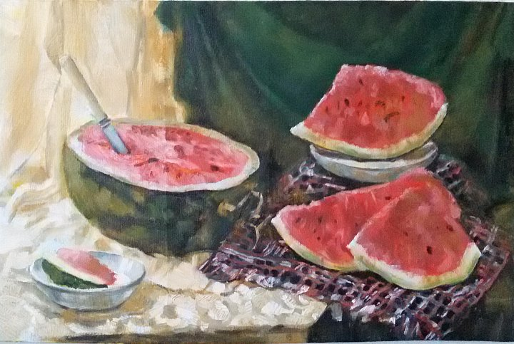Summer and watermelons
