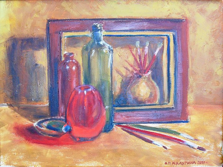 Kalugina -still life with paint tube-2011 ~ Natalya Kalugina