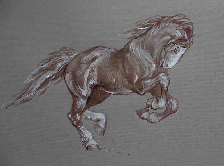 Лошадь. Рисунок, автор ...: natbach.in.gallerix.ru/expo/loshadi-zhivopis-grafika/loshad-risunok