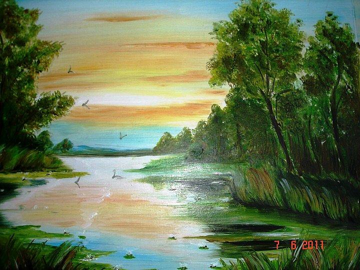 картини маслом пейзаж: