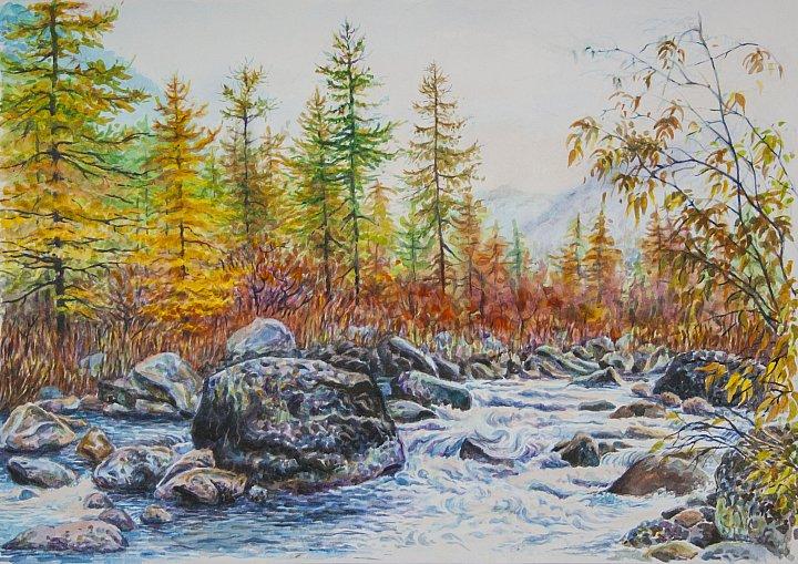 Анна Абрамова – Осенняя речка