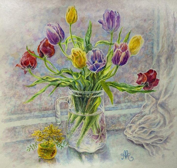 Анна Абрамова – Тюльпаны на 8 марта)