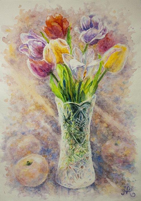 Анна Абрамова – Тюльпаны с яблоками
