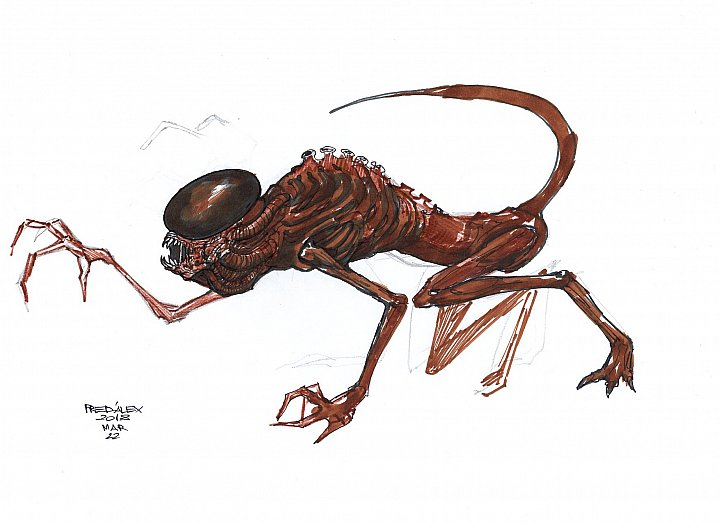 alien creature sketch