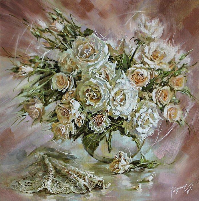Светлана Рогозина – Розы в теплом колорите