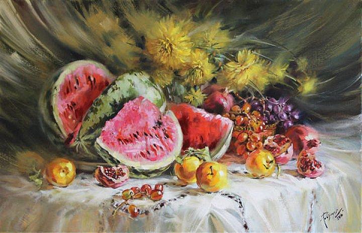Светлана Рогозина – Спелые, сладкие, вкусные. Арбузы. Фрукты. Цветы