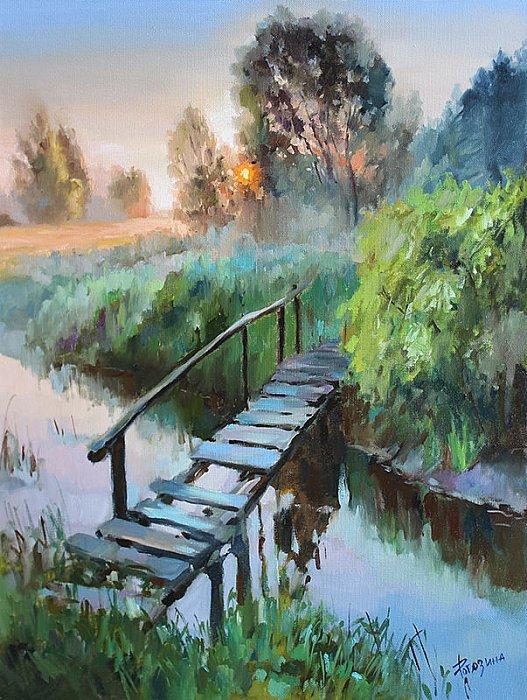 Старый мостик. Потрясающая живопись Светланы Рогозиной/ Смотрю на мир влюблёнными глазами...
