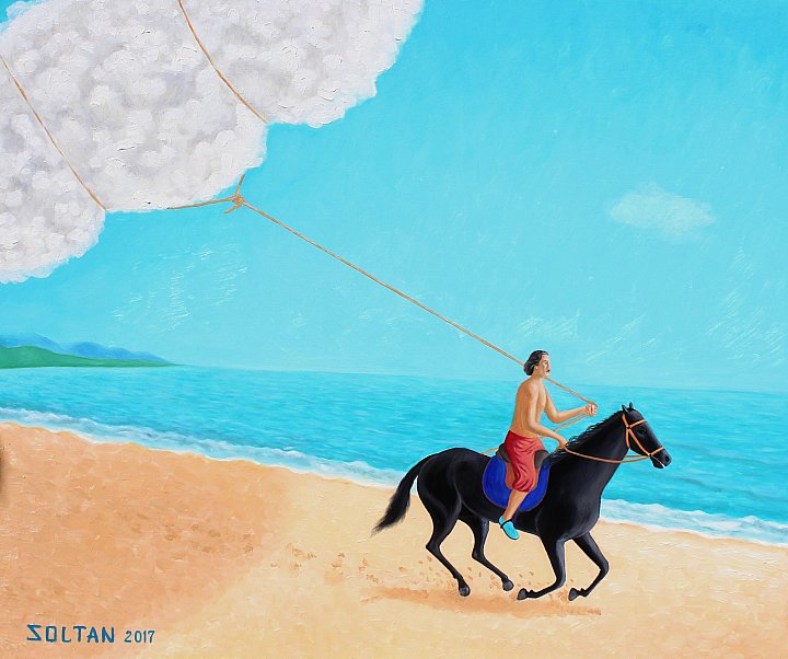 """Taming the cloud"". Oil on canvas. 100x83 cm… ~ Soltan SOLTANLİ"