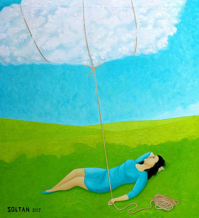 """The woman with the cloud"""