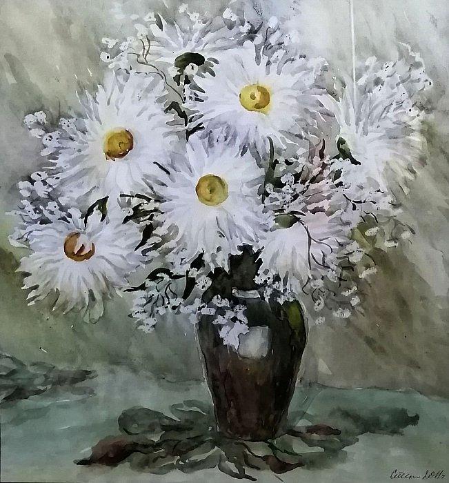 Степанычева Нина – садовые ромашки
