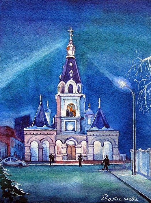 Самара, Покровский собор ночью