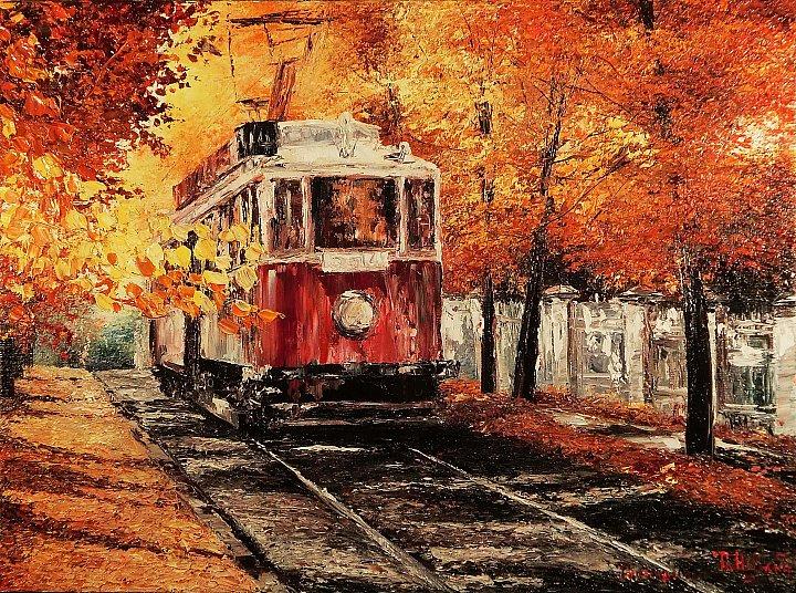 Трамвайчик в осень