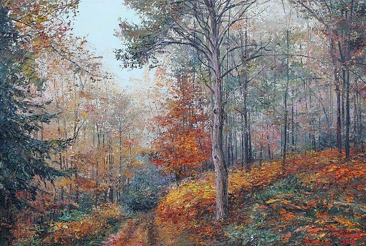 В лесу осень