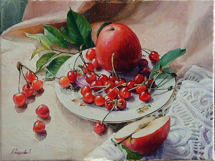 Вишни и яблоки Cherries and apples ~ Гладкова Татьяна