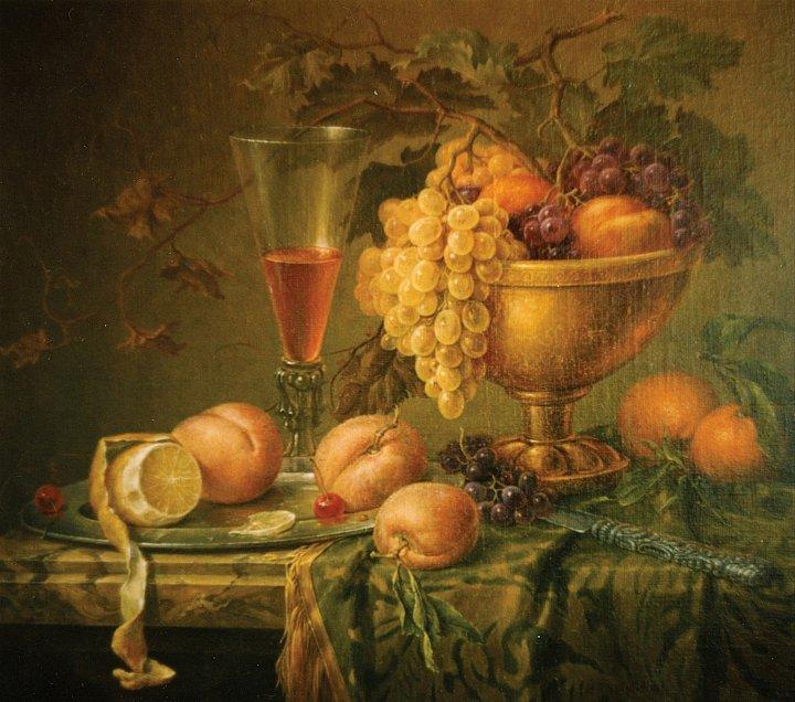 Натюрморт с бронзовой чашей
