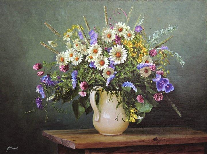 Владимир – Натюрморт с полевыми цветами и травками