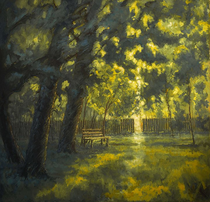 В тени дерев