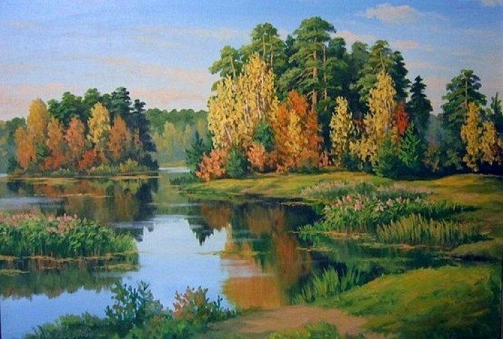 Лесное озеро в октябре
