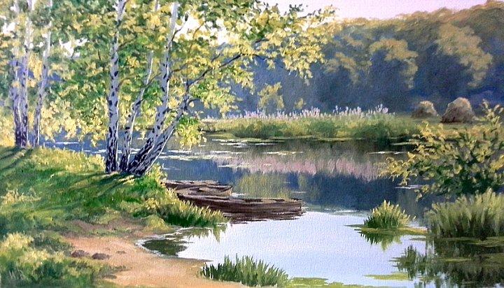 Воробьев Игорь – утро на реке
