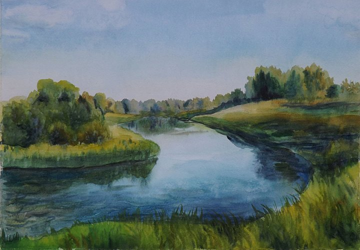 Берег реки в Гагарино