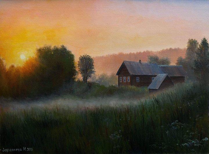 Наталия Задворнова – Закат в деревне