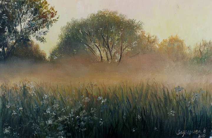 Наталия Задворнова – Закат в поле