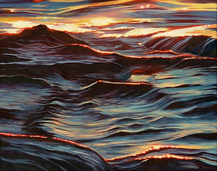 Блики солнца на воде