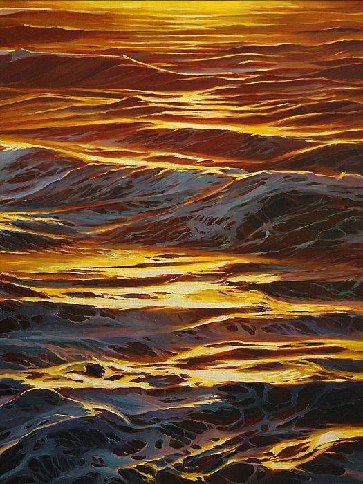 Вестникова Екатерина – Морские волны на закате